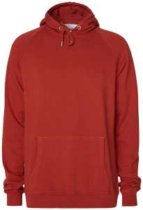 Les Deux  Roestkleurige hoodie met logo