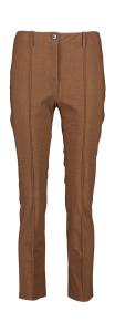 Marc Cain collections Bruine geklede broek met overslag