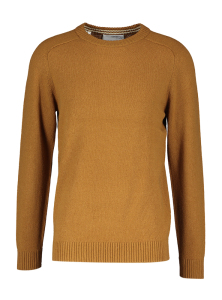 Selected Bruine wollen trui NEW COBAN  Homme