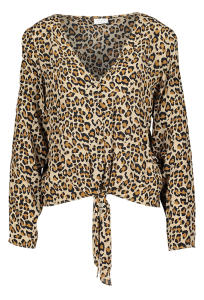 Beige blouse met leopardprint VISUSASSY Vila