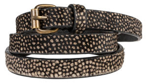 Beige Fijne Riem in Dierenprint By-Bar