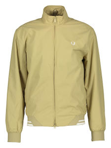 Beige outdoor jas met logo Fred Perry