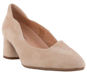 Beige pump met afgeronde hak Softwaves