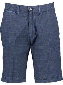 Blauw geruite short Stretch Bugatti