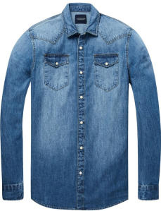 Blauw Jeanshemd Scotch & Soda