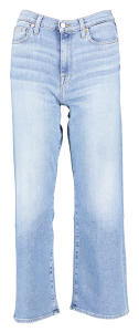 Blauwe cropped jeansbroek For All Mankind