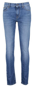 Blauwe Jeans met Donkergroen Label For All Mankind RONNIE THE SKINNY