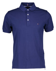 Blauwe polo met 3 knopen Tommy Hilfiger