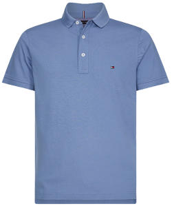 Blauwe polo met logo Tommy Hilfiger