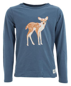 Blauwe T-shirt met Bambiprint AO Girls