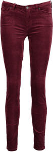 Bordeaux Broek in Fluweel For All Mankind Super Skinny