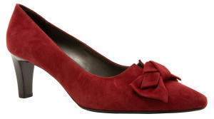 Bordeaux Daim Pumps met Strik Peter Kaiser
