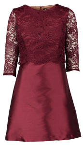 Bordeaux Kleed met Kant Its A Party Dress