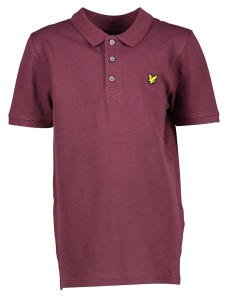 Bordeaux Polo met Korte Mouwen Lyle & Scott