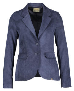 Donkerblauwe Blazer Ribfluweel Very Simple