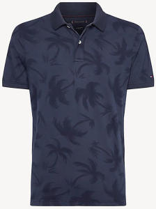 Donkerblauwe Polo met Palmbomen Tommy Hilfiger