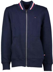 Donkerblauwe Pull met Rits Tommy Hilfiger