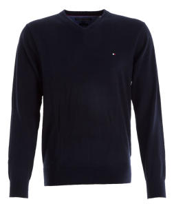 Donkerblauwe Pull Tommy Hilfiger