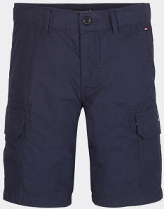 Donkerblauwe short met zijzakken Straight Fit Tommy Boys