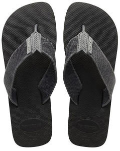 Donkergrijze Effen Slippers met Stoffen Band Havaianas Urban Basic