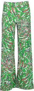 Felgroene Losse Broek met Multi-color Print Pauline B. Hopper