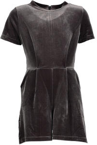 Grijze Playsuit Indee in Velvet