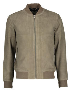 Grijze Suede Bomber Jas Selected Homme