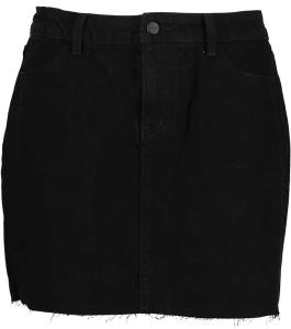 Korte Zwarte Jeansrok Selected