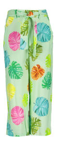 Multicolor pantalon met patroon en strik Rachel Blue Bay