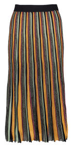 Multicolor Rok in Strepen met Metallicdraad Scotch & Soda