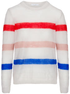 Multicolor Trui met Ronde Hals Gwen Stripe By-Bar