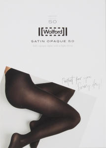 Nearly Black Panty Wolford Satin Opaque 50