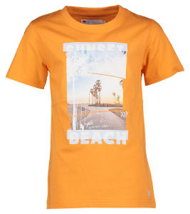 Oranje T-Shirt met afbeelding Sunset Beach Tommy Blue Bay