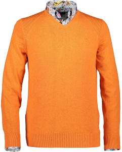 Oranje trui met V-hals REGULAR FIT State Of Art