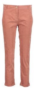 Oudroze Broek in Ribfluweel met omslag Brax model Mel S relaxed fit