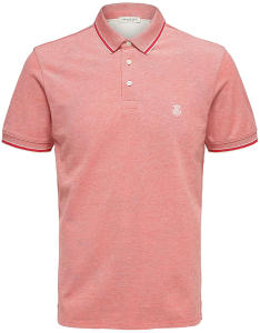 Rode Polo met wit Selected