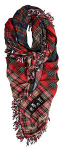 Rode Sjaal met Multi-color Tartanruit Mucho Gusto TARTAN