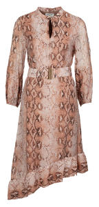 Roze jurk slangenprint Dreamcatcher Chiffon Dress