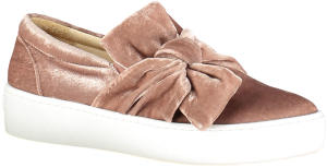 Roze Velvet Sneakers met Strik March 23