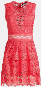 Roze Zomerjurk in Broderie Guess