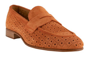 terracota suede loafer Pertini