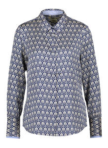 Wit/blauwe blouse met bloemenpatroon Scotch & Soda