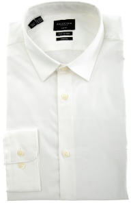 Wit Hemd Met Witte Knopen SLIM FIT Stretch Selected Homme