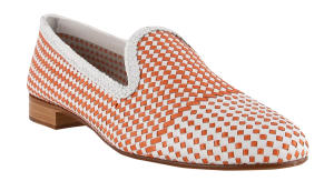 wit/oranje loafer model papillon Pertini