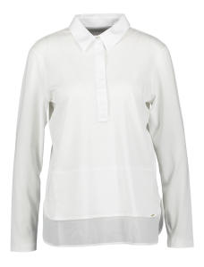 Witte Bloes in T-shirtstof Marccain