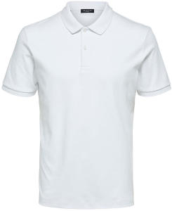 Witte polo Selected