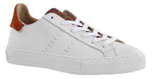Witte Sneakers met Roest en Bordeaux Slangenprint March 23