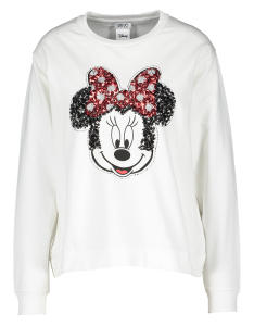 Witte sweater met Mickey Mouse motief in pailletten Liu Jo