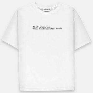 Witte T-shirt met Quote Essentiel