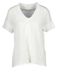 Witte T-Shirt met V-Hals Marccain